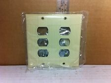 Eagle 956V-BOX Two Gang Wall Plate w/Interchange Strap for Eagle Devices (Ivory)