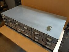 Vintage Steel Parts Cabinet 16 Drawers -For Nuts Bolts Drawer Industrial tools