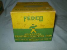 LOT OF 2 UNIVERSAL ADJUSTABLE FILM DEVELOPING TANKS FEDCO in boxes