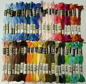 50 DMC 25 Embroidery Floss Lot 50 Skeins 50 Different Colors NOS Lot 020