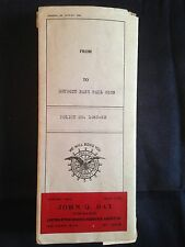1922 Detroit Tigers Accidental Death Insurance Policy Cobb Heilmann Very Cool!