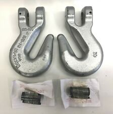 "2 Pieces New Crosby 5/8"" 16mm Grade 100 Clevis Grab Chain Hook A-1358 1049656"