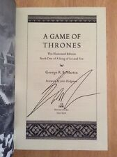 SIGNED - A Game of Thrones The Illustrated Edition George R. R. Martin HC + Pic