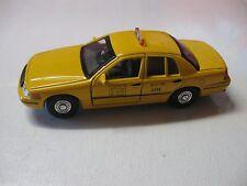 WELLY 1:38 SCALE 1999 FORD NYC TAXI CAB DIECAST CAR MODEL PULLBACK W/O BOX NEW!