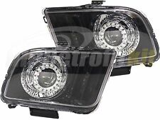 Custom Made HID Retrofit Headlights Led Halos For 2005 up Ford Mustang S197