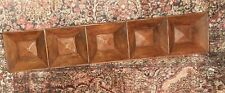 "POTTERY BARN HOLIDAY PINE WOOD CANDLE TRAY CANDLES  RUSTIC 37""RETIRED"