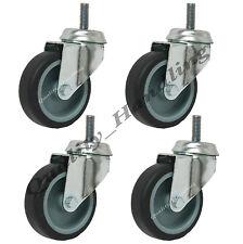 "75mm (3"" inch) bolt hole castors 4 swivels, no brakes, castors with bolt fitting"
