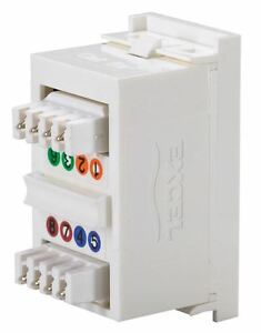 Excel Cat5e RJ45 Ethernet network module UTP 25mm x 50mm NEW 100-700 BUY 3 GET 4
