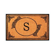 Personalized Coco Coir Entrance Doormat Anti-Fatigue Indoor/Outdoor Welcome Mat