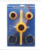 "6PCS PVC Thread Maker Pipe Threader Tool Set 1/2"",3/4"",1"" NPT  Tube"