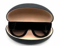 Large BLACK Hard Case Shell for Sunglasses and Eyeglasses Smooth Matte  SHADZ
