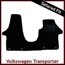 VW Transporter T5 Doble Asiento del pasajero 2003-2015 a Medida Alfombra Mat Negro