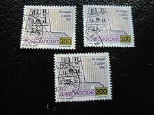 VATICAN - timbre yvert et tellier n° 721 x3 obl (A28) stamp