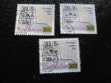 VATICANO - sello yvert y tellier nº 721 x3 matasellados (A28) stamp