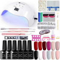 UR SUGAR Kit 40W LED UV Nail Lamp 10 Gel Polish Colours Top Base Coat Remover