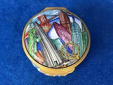 "Halcyon Days Enamels ""New York City Round"" Trinket Box Tiffany & Co"