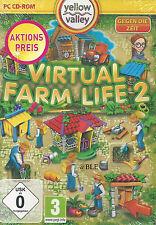 PC CD-ROM + Virtual Farm Life 2 + Gegen die Zeit + Landwirtschaft + Win7