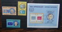 Grenada Grenadines 1985 United Nations Organisation set & Miniature Sheet Used