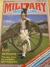 MILITARY MODELLING MAGAZINE DEC 1986 EURO MILITAIRE STIRLING BRIDGE WAR GAME