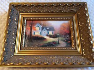 Thomas Kinkade 'Blessing Of Autumn' Art Canvas Gold Frame