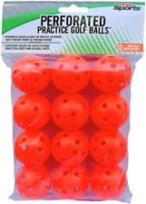 New listing Orange Perforated Practice Balls Unisex-Adults Golf Durable Lightweight Indoor