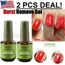 2pcs Magic Nail Polish Remover Fast Remove Soak-Off Gel Polish IN 3-5 Minutes US
