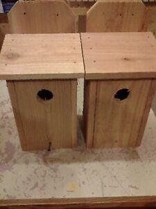 2 BLUEBIRD CEDAR BIRD HOUSE NEW HANDMADE 5/8 CEDAR MADE IN USA