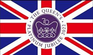 NEW QUEEN'S PLATINUM JUBILEE FLAG 2022 UNION JACK LOYALIST  UNITED KINGDOM UK