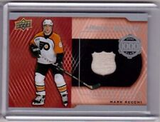MARK RECCHI 17/18 Upper Deck 1000 Point Club Piece of History Stick Piece #PC-MR
