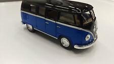 Volkswagen Classiche Bus1962 Blu Nero Kinsmart Giocattolo Modellino 1/32 Scala