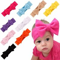 Girls Kids Baby Cotton Bow Hairband Headband Stretch Turban Knot Head Wrap TOP