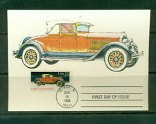 1988 FDC - on Maxi Cards - 1938 Locomobile - USPS Product