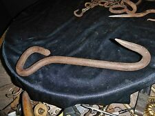 Antique Hand Forged Real Wrought Iron Hay Bale HOOK Primitive Farm Blacksmith