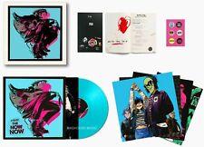 Gorillaz LP le maintenant maintenant Bleu Vinyle Album Box Set Deluxe + GRAVURES + LIVRE + MP3s +