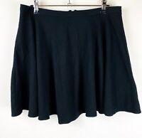Glassons Women's Flared Black Skirt - Size 12