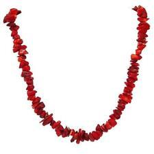 El Coral Collar Coral Rojo Chips 10 mm y Cierre Dorado