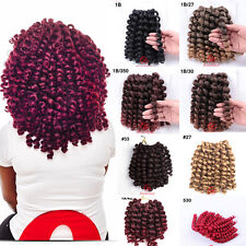 8'' Wand Curl Jumpy Twist Curly Crochet Braid Synthetic Hair Extensions 8 Colors