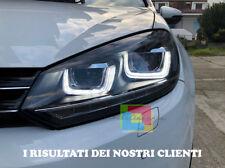 VW GOLF 6 2008-2012 FARI ANTERIORI DOPPIA U LED DIURNE E FRECCIA DINAMICA FANALI