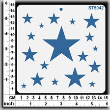 Stencils Templates Masks for Scrapooking, Cardmaking - Stars ST5042