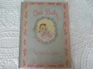 1943 Vintage Our Baby Book with U. S. Naval Hospital Birth Certificate