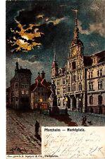 Pforzheim AK 1911 piazza del mercato artista Nietzsch Baden-Württemberg 1502457