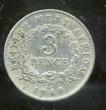 AFRIQUE de L'OUEST  3 pence 1940  KN ( british colony )   ( bis )