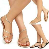 Summer Women Flip Flops Weaving Casual Beach Flat Shoes Female Sandal Low Heels