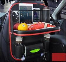 Car Back Seat Bag Tray Bag Travel Food Table Desk Laptop Holder Organizer