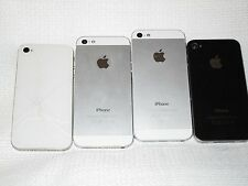 Apple Iphones Lot Of 4 Smartphones 4 And 5 16GB Only For Parts read Descriptions