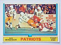 Bob Windsor #49 Topps 1974 Football Card (New England Patriots) VG