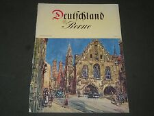 1953 DEUTSCHLAND REVUE GERMAN MAGAZINE - NICE PHOTOS - J 2161