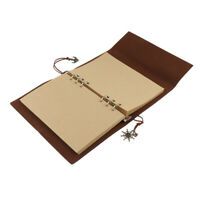 Travel Journal Notebook, A5 Refillable Leather Journal Diary Blank Book