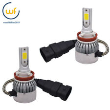 2x H11 H8 H9 3000K Golden Yellow High Power COB LED Fog Lights Driving  DRL USA
