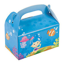 MERMAID PARTY Under the Sea Mermaids Gift Treat Favour Box Lunch Boxes Pack 6